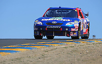 Jun. 21, 2009; Sonoma, CA, USA; NASCAR Sprint Cup Series driver Max Papis during the SaveMart 350 at Infineon Raceway. Mandatory Credit: Mark J. Rebilas-