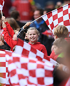 4th November 2017, Ashton Gate, Bristol, England; EFL Championship football, Bristol City versus Cardiff City; a young mascot before the match