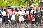 The crowd who marched through Killarney on Saturday in protest against the closure of wards in Killarney hospital