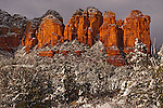Winter Storm at Coffee Pot Rock, Sedona, Arizona.