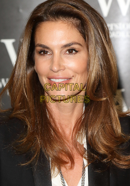 LONDON, ENGLAND - Cindy Crawford signs copies of her new book 'Becoming' at Waterstones, Piccadilly, on October 2nd 2015 in London, England<br /> CAP/ROS<br /> &copy;ROS/Capital Pictures