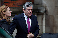 11.06.2012 - Gordon Brown and George Osborne at the Leveson Inquiry