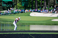 Thorbjorn Olesen (DEN) on the 16th tee during Wednesdays preview at the The Masters , Augusta National, Augusta, Georgia, USA. 10/04/2019.<br /> Picture Fran Caffrey / Golffile.ie<br /> <br /> All photo usage must carry mandatory copyright credit (&copy; Golffile | Fran Caffrey)