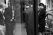Warszawa 23.10-24.11 2005 Poland<br /> The Fryderyk Chopin International Contest taking place every five years in Warsaw is the most prestigious musical event in the world. This year a record high number of contestants has applied 257 musicians from 35 countries.<br /> ( &copy; Filip Cwik / Napo Images for Newsweek Polska )<br /> <br /> Warszawa 23 wrzesien -24 pazdziernik 2005 Polska.<br /> 15 Miedzynarodowy Konkurs Pianistyczny im. Fryderyka Chopina. Konkurs odbywa sie co piec lat i jest to najbardziej prestizowa impreza pianistyczna na swiecie. Nalezy do swiatowej elity wydarzen muzycznych. W tym roku na Konkurs zglosila si? rekordowa liczba uczestnikow - 257 muzykow z 35 krajow. <br /> nz Maciej Krzysztof ( Polska ) i Maksimovic Nebojsa ( Serbia ) tuz przed wejsciem na sale przesluchan. <br /> ( &copy; Filip Cwik / Napo Images dla Newsweek Polska )
