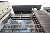 The exterior of architect Francine Houben's contemporary house in Rotterdam.