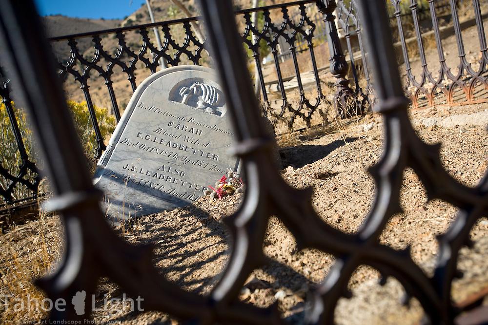 Virginia city cemetery | Tahoe Landscape Photography