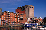 A3A8H4 Deindustrialisation and land use change as old industrial buildings are demolished and converted Ipswich Wet Dock Suffolk Englan. Image shot 2006. Exact date unknown.