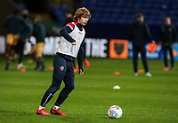 Bolton Wanderers' Luca Connell warming up before the match <br /> <br /> Photographer Andrew Kearns/CameraSport<br /> <br /> The EFL Sky Bet Championship - Bolton Wanderers v Sheffield Wednesday - Tuesday 12th March 2019 - University of Bolton Stadium - Bolton<br /> <br /> World Copyright © 2019 CameraSport. All rights reserved. 43 Linden Ave. Countesthorpe. Leicester. England. LE8 5PG - Tel: +44 (0) 116 277 4147 - admin@camerasport.com - www.camerasport.com