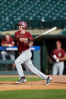 Brian Dempsey (6) of the Boston College Eagles follows through on his swing against the North Carolina State Wolfpack in Game Two of the 2017 ACC Baseball Championship at Louisville Slugger Field on May 23, 2017 in Louisville, Kentucky. The Wolfpack defeated the Eagles 6-1. (Brian Westerholt/Four Seam Images)