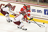 Dana Trivigno (BC - 8), Ashley Motherwell (BC - 18), Lillian Ribeirinha-Braga (BU - 15) - The Boston College Eagles tied the visiting Boston University Terriers 5-5 on Saturday, November 3, 2012, at Kelley Rink in Conte Forum in Chestnut Hill, Massachusetts.