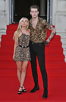 "LONDON, ENGLAND - AUGUST 08: Nell Hudson and guest at the ""Pain and Glory"" Film4 Summer Screen opening gala & launch party, Somerset House, The Strand, on Thursday 08 August 2019 in London, England, UK.<br /> CAP/CAN<br /> ©CAN/Capital Pictures"