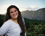 Juenea Dement senior portraits taken early on Veterans Day 2014 at Maunawili Park, Kailua Oahu.