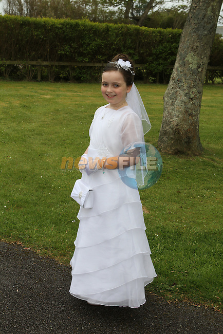 Isabel Darley at the Scoil Oilibheir Naofa Communion in Laytown Church...(Photo Jenny Matthews/www.newsfile.ie)