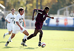 BC's Sherron Manswell (r) is chased by Wake's Julian Valentin (l) on Tuesday, November 8th, 2005 at SAS Stadium in Cary, North Carolina. The Wake Forest Demon Deacons defeated the Boston College Eagles 4-0 during their Atlantic Coast Conference Tournament Play-In game.