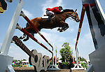 GUADALAJARA, MEXICO - OCTOBER 27: Ian Millar of Canada competes during the Equestrian Show Jumping Competition on Day Thirteen of the XVI Pan American Games on October 27, 2011 in Guadalajara, Mexico.  (Photo by Donald Miralle for Mexsport) *** Local Caption ***