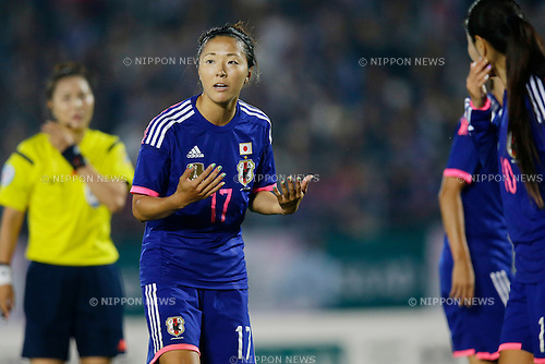 Yuki Ogimi (JPN), <br /> MAY 24, 2015 - Football / Soccer : MS&amp;AD Nadeshiko Cup 2015 match between Womens Japan and Womens New Zealand at Marugame stadium, Kagawa, Japan. (Photo by AFLO)