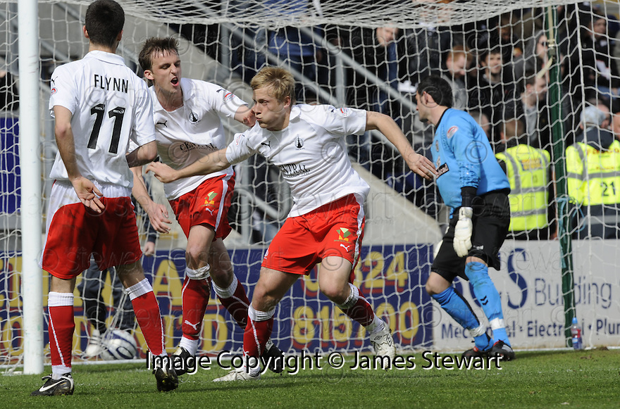 01/05/2010   Copyright  Pic : James Stewart.sct_jsp05_falkirk_v_st-mirren  .::  SCOTT ARFIELD CELEBRATES AFTER SCORING THE FIRST ::  .James Stewart Photography 19 Carronlea Drive, Falkirk. FK2 8DN      Vat Reg No. 607 6932 25.Telephone      : +44 (0)1324 570291 .Mobile              : +44 (0)7721 416997.E-mail  :  jim@jspa.co.uk.If you require further information then contact Jim Stewart on any of the numbers above.........