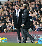 West Ham's Sam Allardyce looks on dejected<br /> <br /> Barclays Premier League - Tottenham Hotspur  vs West Ham  - White Hart Lane - England - 22nd February 2015 - Picture David Klein/Sportimage