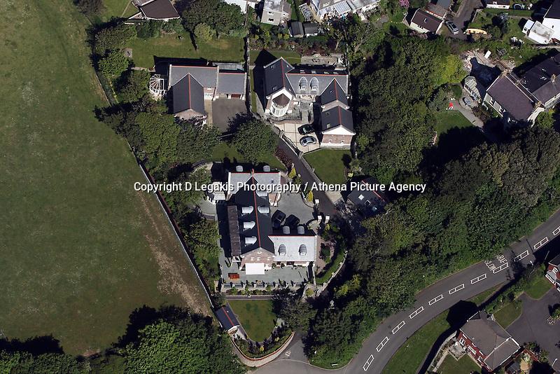 Aerial view of the house belonging to Catherine Zeta Jones and Michael Douglas in Mumbles Swansea