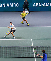 Rotterdam, The Netherlands, 15 Februari 2020, ABNAMRO World Tennis Tournament, Ahoy,<br /> Men's Doubles Final: Men's Doubles Final: Henri Kontinen (FIN) and Jan-Lennard Struff (GER).<br /> Photo: www.tennisimages.com