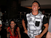 DANNY WILLS (AUS) and his wife Kirsty at his  retirement  from the ASP World Tour was celebrated last night, Monday 2 March 2009 at the La Monde restaurant at Kirra Beach, Kirra, Queensland, Australia ,   Photo: joliphotos.com
