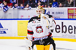 S&ouml;dert&auml;lje 2014-01-06 Ishockey Hockeyallsvenskan S&ouml;dert&auml;lje SK - Malm&ouml; Redhawks :  <br />  Malm&ouml; Redhawks m&aring;lvakt Robin Rahm &auml;r glad efter att ha r&auml;ddat den avg&ouml;rande straffen i straffl&auml;ggningen<br /> (Foto: Kenta J&ouml;nsson) Nyckelord:  jubel gl&auml;dje lycka glad happy glad gl&auml;dje lycka leende ler le