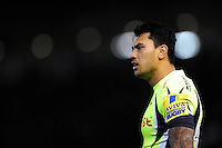 Denny Solomona of Sale Sharks looks on. Aviva Premiership match, between Northampton Saints and Sale Sharks on December 23, 2016 at Franklin's Gardens in Northampton, England. Photo by: Patrick Khachfe / JMP