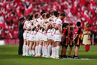 England line up for the national anthem. 2017 Rugby League World Cup Semi Final, England v Tonga at Mt Smart Stadium, Auckland, New Zealand. 25 November 2017 © Copyright Photo: Anthony Au-Yeung / www.photosport.nz MANDATORY BYLINE/CREDIT : Andrew Cornaga/SWpix.com/PhotosportNZ
