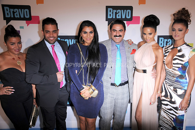 WWW.ACEPIXS.COM . . . . . .April 3, 2013...New York City...Mike Shouhed,Merecedes 'MJ' Javid,Asa Soltan Rahmati,Reza Farahan,Lily Ghalichi and Goinesa 'GG' Gharachedaghi of 'Shahs of Sunset' attend the 2013 Bravo New York Upfront at Pillars 37 Studios on April 3, 2013 in New York City ....Please byline: KRISTIN CALLAHAN - ACEPIXS.COM.. . . . . . ..Ace Pictures, Inc: ..tel: (212) 243 8787 or (646) 769 0430..e-mail: info@acepixs.com..web: http://www.acepixs.com .