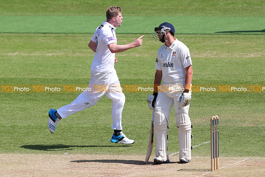 David Balcombe of Hampshire (L) claims the wicket of Essex batsman Nick Browne (R) - Hampshire CCC vs Essex CCC - LV County Championship Division Two Cricket at the Ageas Bowl, West End, Southampton - 17/06/14 - MANDATORY CREDIT: Gavin Ellis/TGSPHOTO - Self billing applies where appropriate - 0845 094 6026 - contact@tgsphoto.co.uk - NO UNPAID USE