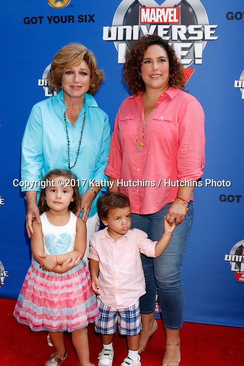 LOS ANGELES - JUL 8:  Angelica Maria, Angelica Vale, Children at the Marvel Universe Live Red Carpet at the Staples Center on July 8, 2017 in Los Angeles, CA