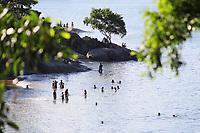 VITÓRIA, ES, 29.12.2019 - PRAIA-ES - Movimentação na Praia da Ilha do Frade, em Vitória - ES, neste domingo, 29. (Foto Charles Sholl/Brazil Photo Press)