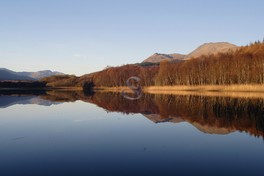 Ben Lomond and the Dubh Lochan near Balmaha, Loch Lomond and The Trossachs National Park<br /> <br /> Copyright www.scottishhorizons.co.uk/Keith Fergus 2011 All Rights Reserved