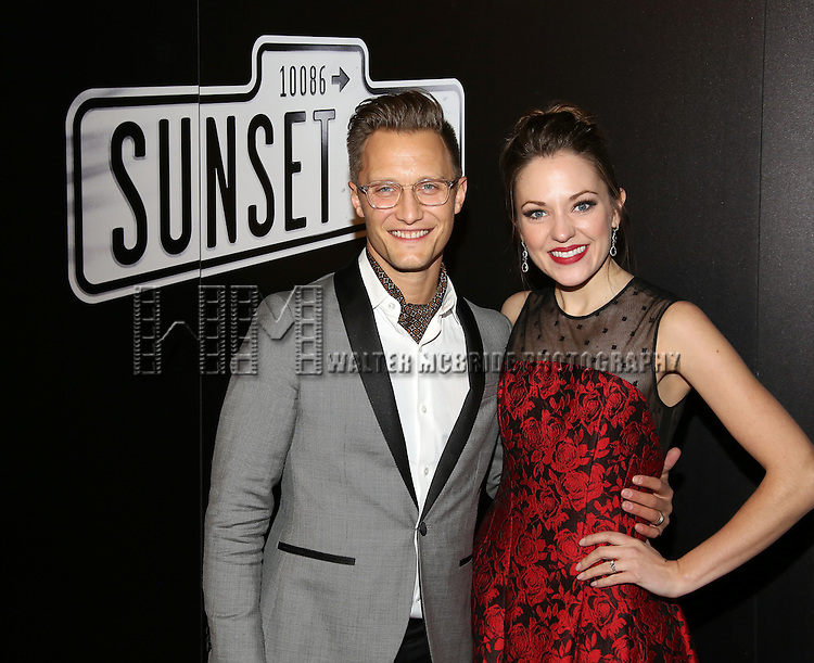 Nathan Johnson and Laura Osnes attend the Opening Night After Party for Andrew Lloyd Webber's 'Sunset Boulevard' at the Cipriani on February 9, 2017 in New York City.