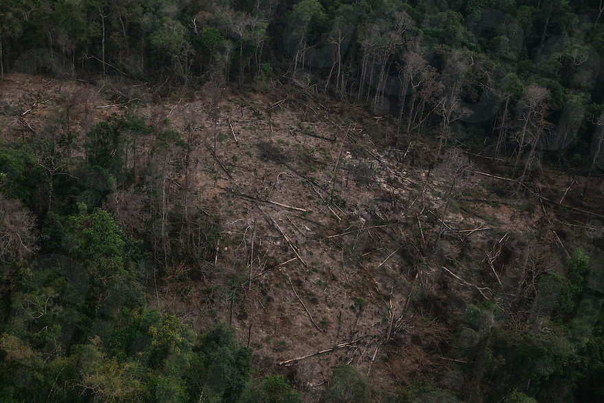 February 13, 2015 - Cambodia. An aerial view of deforested parts of the Cardamom mountains of Cambodia.  © Hannah Reyes / Ruom