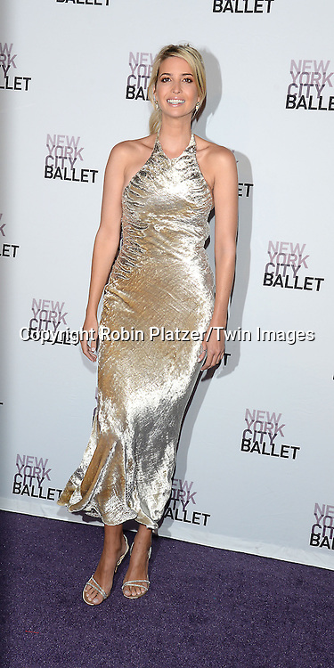 Ivanka Trump  attends the New York City Ballet's 3rd Annual  Fall Fashion Gala on September 23, 2014 at David Koch Theatre in Lincoln Center in New York City. <br /> <br /> photo by Robin Platzer/Twin Images<br />  <br /> phone number 212-935-0770