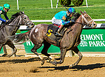 Oct 05, 2019 : Maedean with John Velazquez, wins race 4, Maiden Special Weight for 2 year old fillies, Tapit- Summer Solo by Arch,  at Belmont Park, in Elmont, NY, October 05, 2019. Sue Kawczynski_ESW_CSM,