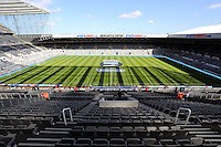 Pictured: Interior view of St James Park. Saturday 19 April 2014<br />