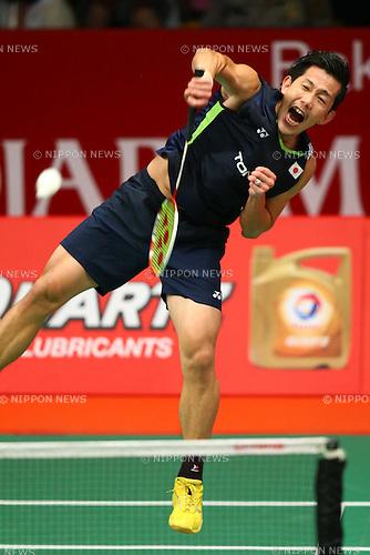 Noriyasu Hirata & Hirokatsu Hashimoto (JPN), AUGUST 12, 2015 - Badminton : TOTAL BWF World Championships 2015 Men's Doubles 2nd round match at Istora Senayan Arena, Jakarta, Indonesia. (Photo by Shingo Ito/AFLO SPORT)