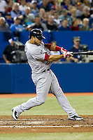 Boston Red Sox shortstop Mike Aviles #3 during an American League game against the Toronto Blue Jays at Rogers Centre on June 3, 2012 in Toronto, Ontario.  (Mike Janes/Four Seam Images)