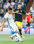 Carlos Henrique Casemiro (l) of Real Madrid battles for the ball with Jorge Resurreccion Merodio, Koke, of Atletico de Madrid during their 2016-17 UEFA Champions League Semifinals 1st leg match between Real Madrid and Atletico de Madrid at the Estadio Santiago Bernabeu on 02 May 2017 in Madrid, Spain. Photo by Diego Gonzalez Souto / Power Sport Images