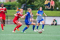 Boston, MA - Saturday July 01, 2017: Tori Huster and Natasha Dowie during a regular season National Women's Soccer League (NWSL) match between the Boston Breakers and the Washington Spirit at Jordan Field.
