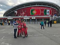 KAZAN, RUSSIA, 18.06.2017 - PORTUGAL-MÉXICO - Vista Arena de Kazan antes da partida entre Portugal e México válida pela 1°rodada da Copa das Confederações 2017, neste domingo (18), realizada na Arena Kazan, em Kazan, Rússia. (Foto: Etzel Espinosa/Brazil Photo Press)