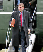 Richard Cordray, Director, Consumer Financial Protection Bureau, departs Marine One after arriving with United States President Barack Obama (not pictured) on the South Lawn of the White House in Washington, D.C. following a quick trip to Cleveland, Ohio to discuss the economy..Credit: Ron Sachs / Pool via CNP