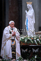 Feast of Our Lady of Lourdes Pope Benedict XV, World Day of the Sick.February 11, 2010