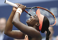 (170910) -- NEW YORK, Sept. 10, 2017 -- Sloane Stephens of the United States celebrates after winning the women s singles final match against Madison Keys of the United States at the 2017 US Open in New York, the United States, Sept. 9, 2017. Sloane Stephens won 2-0 to claim the title. ) <br /> Foto Imago/Insidefoto