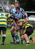Action from the Auckland presidents club rugby match between Mount Wellington and Grammar TEC Seadogs at Hamlin Park in Auckland, New Zealand on Saturday, 8 July 2017. Photo: Dave Lintott / lintottphoto.co.nz