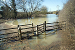 Field flooded by Belstead Brook overflow, Ipswich, Suffolk
