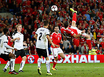 Gareth Bale of Wales attempts an over head kick during the World Cup Qualifying Group D match at the Cardiff City Stadium, Cardiff. Picture date 2nd September 2017. Picture credit should read: Simon Bellis/Sportimage