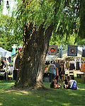 A view of the Market Place area, at the 2012 Clearwater Festival at Croton Point Park on Saturday, June 16, 2012. Photograph taken by Jim Peppler. Copyright Jim Peppler/2012